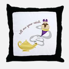 Genie Wish Throw Pillow