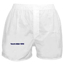 You Are Visitor... Boxer Shorts