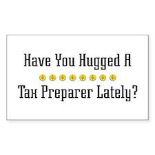 Hugged Tax Preparer Rectangle Decal