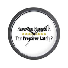 Hugged Tax Preparer Wall Clock