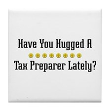 Hugged Tax Preparer Tile Coaster