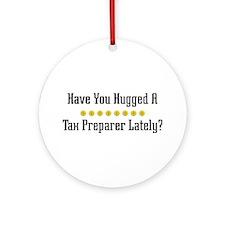 Hugged Tax Preparer Ornament (Round)