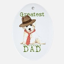 Bichon Dad Oval Ornament