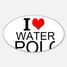 I Love Water Polo Decal
