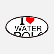 I Love Water Polo Patches