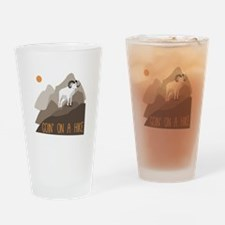 Goin on a Hike Drinking Glass