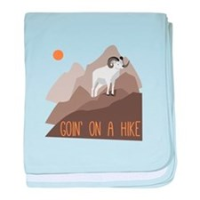Goin on a Hike baby blanket