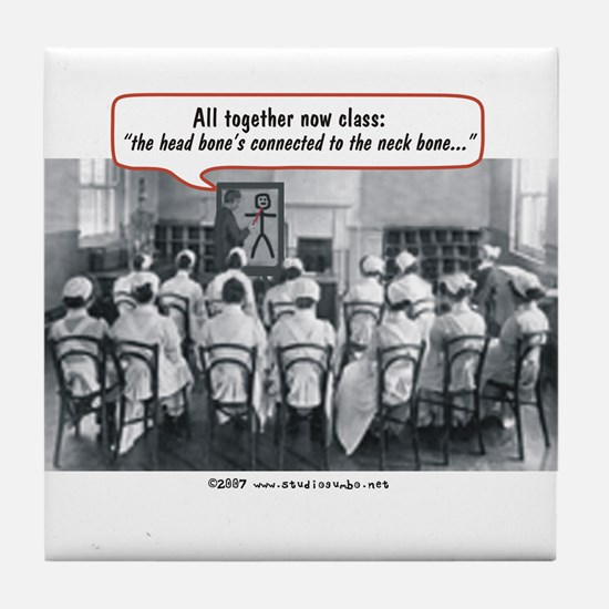 All Together Now Nurses Tile Coaster