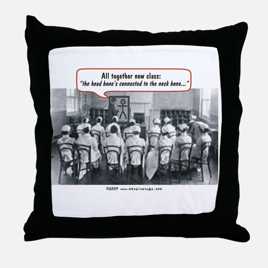 All Together Now Nurses Throw Pillow