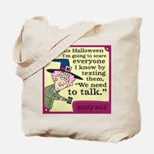 Aunty Acid: Halloween Text Tote Bag