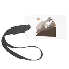 Mountain Goat Luggage Tag