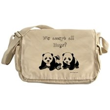 Panda Bear Hugs Messenger Bag