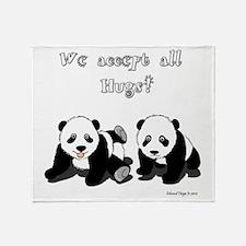 Panda Bear Hugs Throw Blanket