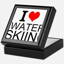I Love Water Skiing Keepsake Box