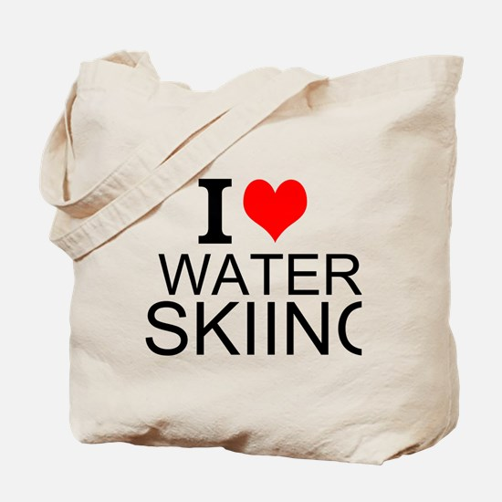 I Love Water Skiing Tote Bag