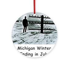 Winter in Michigan Ornament (Round)
