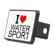 I Love Water Sports Hitch Cover