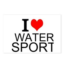 I Love Water Sports Postcards (Package of 8)