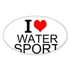 I Love Water Sports Decal