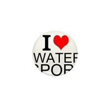 I Love Water Sports Mini Button (10 pack)