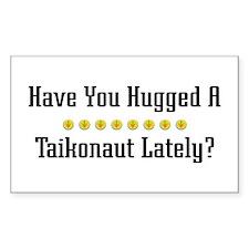 Hugged Taikonaut Rectangle Decal