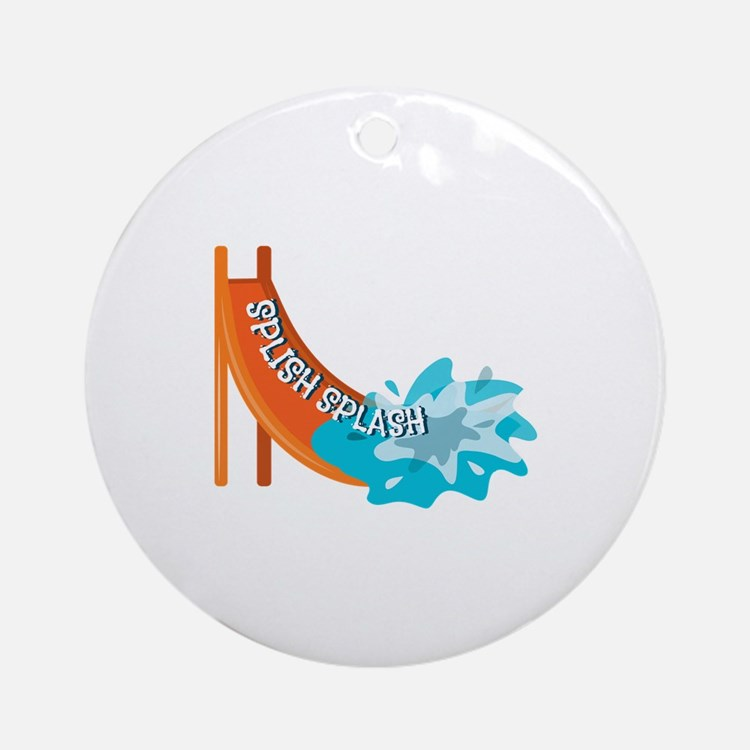 Splish Splash Ornament (Round)