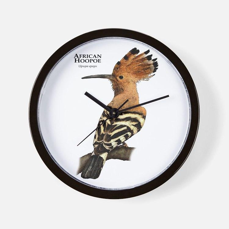 African Hoopoe Wall Clock