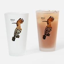 African Hoopoe Drinking Glass
