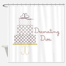 Decorating Diva Shower Curtain