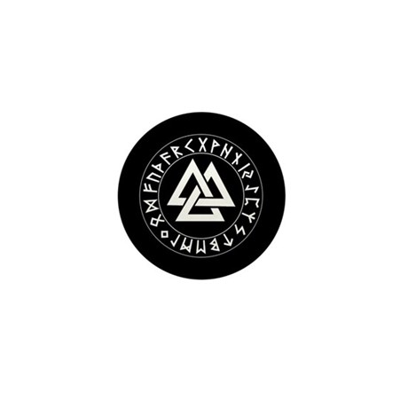 Triple Triangle Rune Shield Mini Button