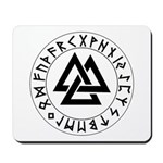 Triple Triangle Rune Shield Mousepad