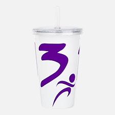Purple 13.1 half-marathon Acrylic Double-wall Tumb