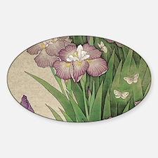 romantic vintage iris flower garden Decal
