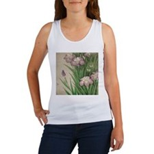 romantic vintage iris flower garden Tank Top