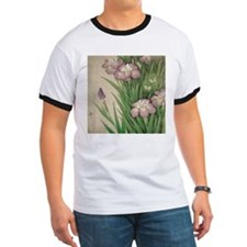 romantic vintage iris flower garden T-Shirt