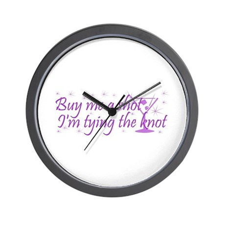 BP - Buy Me A Shot (Purple Ma Wall Clock