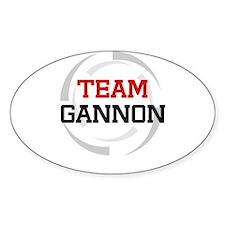 Gannon Oval Decal