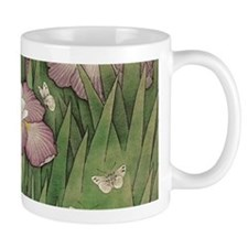 romantic vintage iris flower garden Mugs