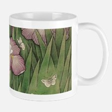 romantic vintage iris flower garden Mugs