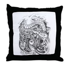 Tagging Tattoo Throw Pillow
