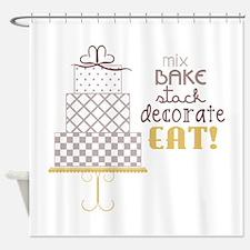 Cake Saying Shower Curtain