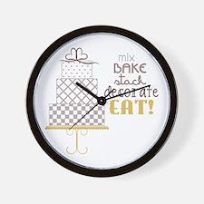 Cake Saying Wall Clock