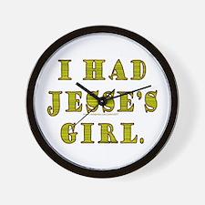 I Had Jesse's Girl Wall Clock