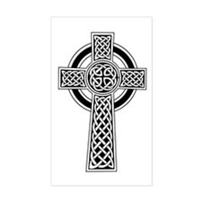 Celtic Knotwork Cross Rectangle Decal