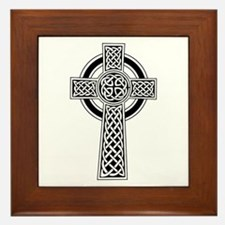 Celtic Knotwork Cross Framed Tile