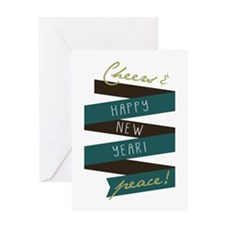 Cheers And Peace Greeting Cards