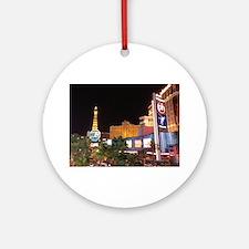 Las Vegas Strip Round Ornament