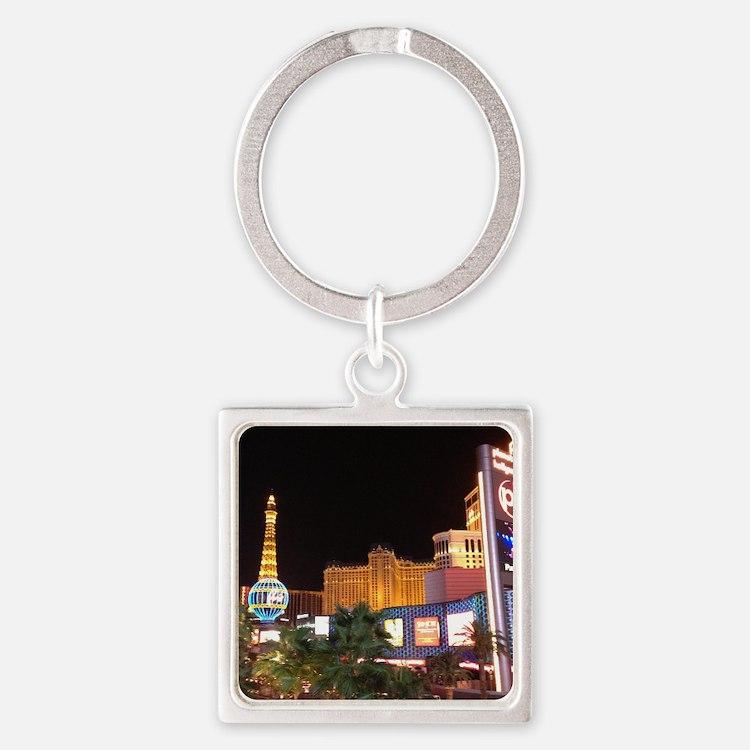 Las Vegas Strip Square Keychain