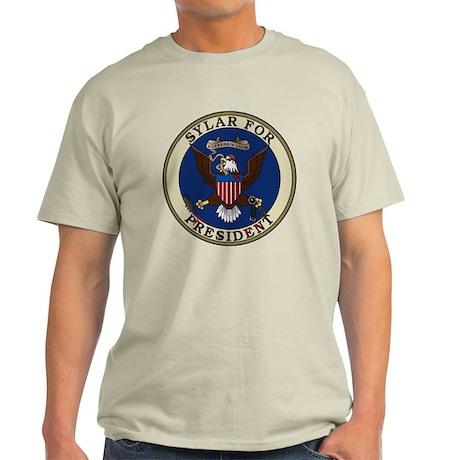 """""""Sylar for President"""" Seal Light T-Shirt"""