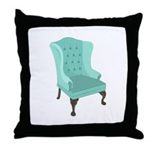 Wingback Chair Throw Pillow